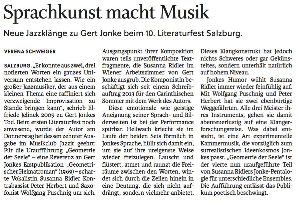 Konzertkritik SALZBURGER NACHRICHTEN